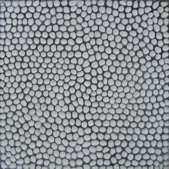 Gạch Sỏi, Terrazzo Hạt trắng 10mm 400x400