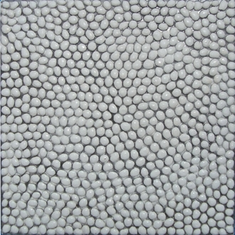 Gạch Sỏi, Terrazzo Hạt trắng 15mm 400x400